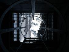 Free Ladder And Manhole Royalty Free Stock Image - 92710826