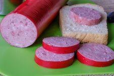 Homemade Sausage Stock Photography