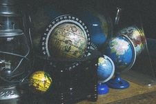 Free Black And Brown Desk Globe Stock Photography - 92753092