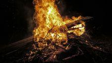 Free Burning Bonfire Stock Photos - 92753243