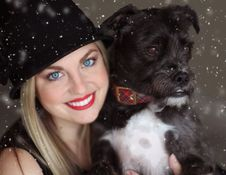 Free Portrait Of Smiling Woman With Dog In Winter Royalty Free Stock Photos - 92753248