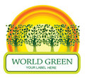 Free Green Trees Stock Image - 9287001