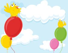 Free Birds And Balloons Royalty Free Stock Image - 9280406