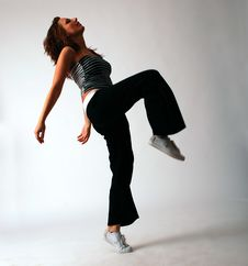 Free Attractive Teenage Dancing Over White Background Stock Photo - 9280520