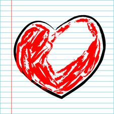 Hand Drawing Heart Stock Images