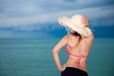 Free Young Woman Having Fun At Beach Stock Images - 9280854