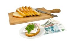 Free Money For Bread Royalty Free Stock Images - 9281159