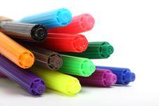 Free Multicolored Felt Tip Pens Royalty Free Stock Photos - 9281308