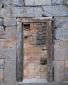 Free Ancient Blocked Door Stock Photography - 9281752