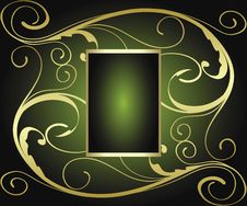 Free Abstract Gold Banner Royalty Free Stock Photography - 9281807