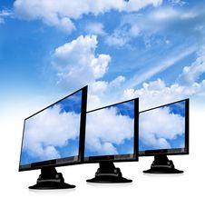 Free Tft Monitor Royalty Free Stock Photos - 9281898