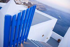 Santorini Houses - Stairway To Heaven Stock Photography