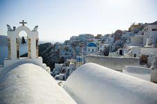 Free Santorini Houses - Churches Royalty Free Stock Photo - 9282195