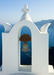 Free Santorini Houses - Churches Stock Photo - 9282210