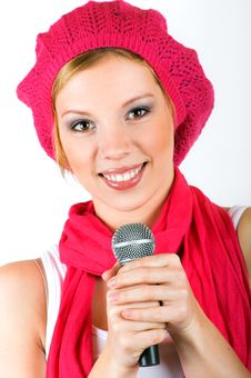 Free Singing Young Woman Stock Photos - 9282533