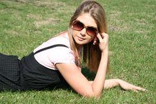 Girl Resting Stock Image