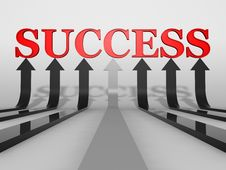 Free Success Concept Artwork Royalty Free Stock Image - 9283756