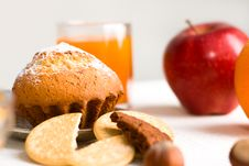 Free Muffin With Juice Royalty Free Stock Photo - 9285085