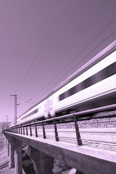 Pink Speed Train Stock Photography