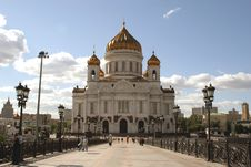Free Temple Of The Christ Of The Savior In Moscow Royalty Free Stock Images - 9285349