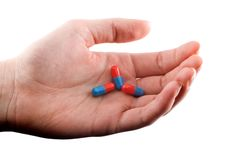 Free Pills In Hand Stock Photos - 9286373