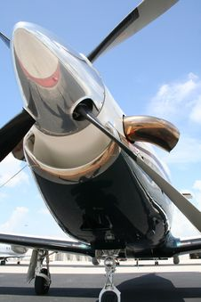 Free Turbo Powered Single Engine Stock Photography - 9287432