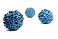 Free Three Network Blue Round Straws Stock Images - 9287594