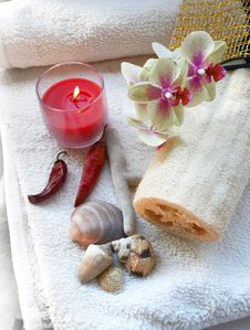 Free Spa Objects Royalty Free Stock Photo - 9287735