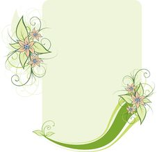 Free Green Floral Frame Royalty Free Stock Image - 9288006