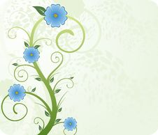 Free Green Floral Background Royalty Free Stock Photos - 9288018