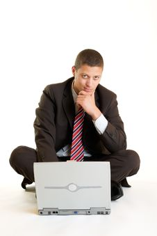 Free Businessman On Laptop Royalty Free Stock Image - 9288296