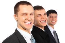 Three Laughing Businessmen Royalty Free Stock Photo