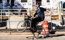 Free Man Doing Wheelie On Bike Royalty Free Stock Photos - 92801488