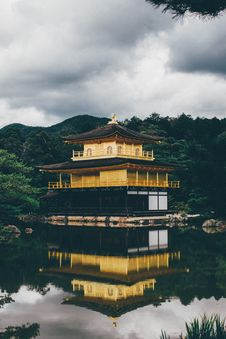 Free Pagoda Reflecting On Water Surface Stock Image - 92801711