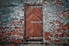 Free Old Door And Brick Wall Stock Images - 92881994