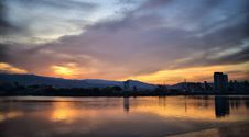 Free Sunset Over River Royalty Free Stock Photo - 92881995