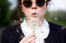 Free Girl Blowing Dandelion Royalty Free Stock Photography - 92882087