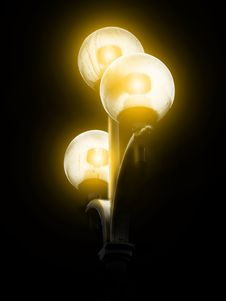 Free Streetlight With Three Globes Stock Images - 92882624