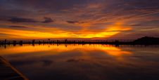 Free Sunset Reflection Royalty Free Stock Photography - 92883177