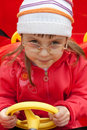 Free Girl In Red Car Royalty Free Stock Photos - 9290958