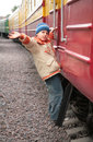 Free Boy On Footboard Of Passenger Wagon Royalty Free Stock Photography - 9292217