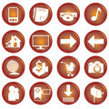 Free Web Icons Royalty Free Stock Photography - 9298207