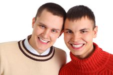 Free Two Young Friends Stock Photography - 9290352