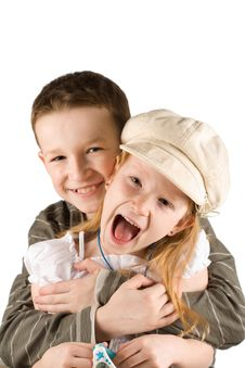 Free Happy Child Couple Royalty Free Stock Image - 9290526