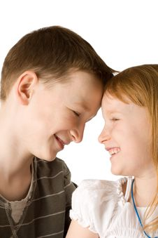 Free Happy Brother And Sister Royalty Free Stock Image - 9290556