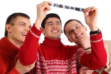 Free Three Friends Look At  Film Stock Images - 9290604