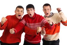 Free Three Aggressive Young Hooligans Stock Image - 9290671