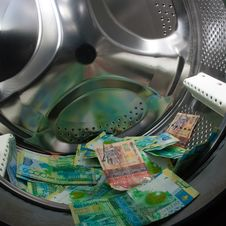 Cash Washing Royalty Free Stock Photo