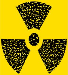 Free Grunge Radioactive Sign Stock Photography - 9291322