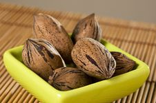 Free Pecan Nuts (Carya Illinoinensis) Stock Image - 9291451